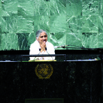 Dadi speaking at the UN Habitat Conference